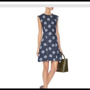 Kenzo Dots And Stripes Denim Jacquard Dress